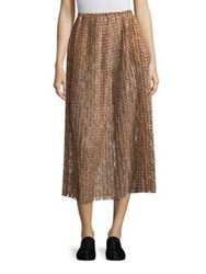 A Detacher Serafina Pleated Skirt Sienna