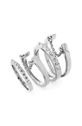 Women's Vince Camuto 'Super Fine' Band Rings Light Silver Set Of 4