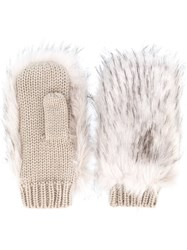 Urbancode Furry Gloves Nude And Neutrals