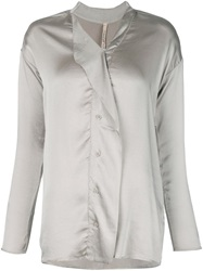 Transit Buttoned Blouse Grey