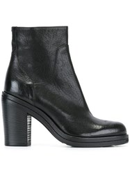 Pantanetti Chunky Heel Ankle Boots Black