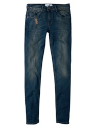 Mango Push Up Uptown Jeans Blue