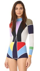 Cynthia Rowley Colorblock Wetsuit Multi Color