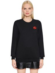 Markus Lupfer Patch Lips Cotton Sweatshirt