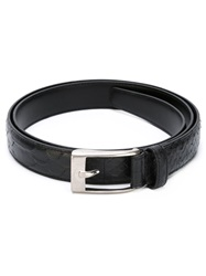Saint Laurent Python Textured Belt Black