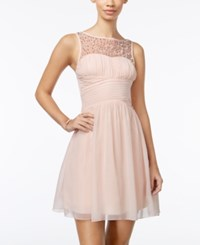 Speechless Juniors' Embellished Fit And Flare Dress A Macy's Exclusive New Peach