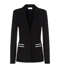 Escada Sport Stripe Pocket Button Blazer Female