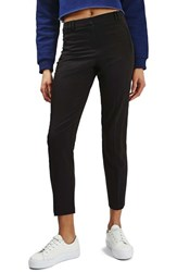 Topshop Women's 'Cora' Cigarette Pants Black