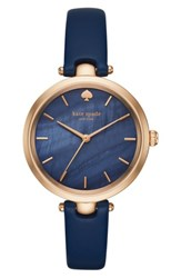 Kate Spade 'S New York 'Holland' Round Leather Strap Watch 34Mm