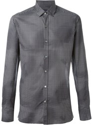 Lanvin Checked Shirt Black