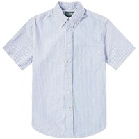 Gitman Brothers Vintage Short Sleeve Stripe Seersucker Shirt Blue