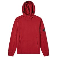 C.P. Company Light Fleece Arm Lens Popover Hoody Red