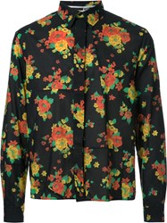 Mcq By Alexander Mcqueen Patchwork Floral Print Shirt Black