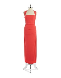 Laundry By Shelli Segal Jersey Crossback Dress Vintage Coral