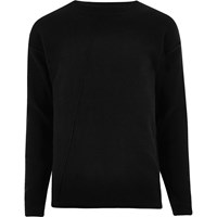 Only And Sons River Island Black Knit Jumper
