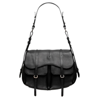 Radley Grosvenor Large Leather Shoulder Bag Black