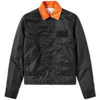 Ganryu Taffeta Twill Coach Jacket Black