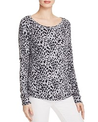 Soft Joie Annora B Animal Print Sweatshirt Heather Grey
