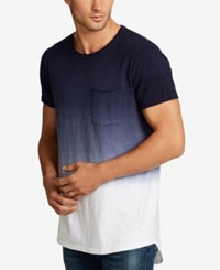 William Rast Men's Jim Ombre Cotton Pocket T Shirt Indigo