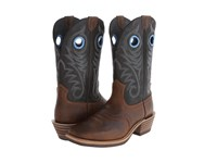 Ariat Heritage Roughstock Earth Vintage Black Cowboy Boots Brown