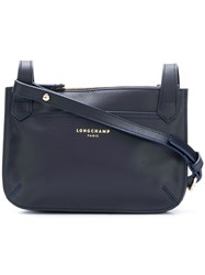 Longchamp Zipped Shoulder Bag Blue