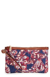 Tommy Bahama Women's Boca Chica Beach Wristlet Blue Tropical Flowers