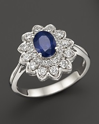 Bloomingdale's Sapphire And Diamond Ring In 14K White Gold