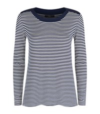 Max Mara Weekend Breton Stripe Jumper Female Blue