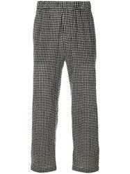 Mcq By Alexander Mcqueen Checked Trousers Cotton Wool Black
