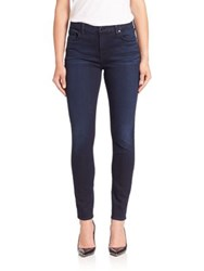 Jen7 Slim Fit Faded Jeans Blue Black