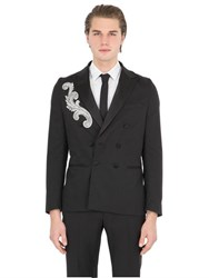 Christian Pellizzari Embellished Patch Wool Evening Jacket