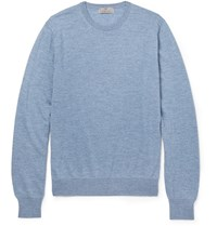 Canali Wool Sweater Blue