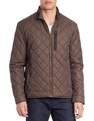 Cole Haan Diamond Quilted Jacket Wren