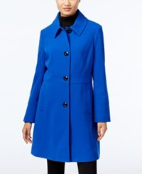 Larry Levine Single Breasted Walker Coat Only At Macy's Royal