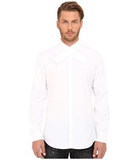 Dsquared Kimono Collar Relax Dan Shirt White Men's Clothing