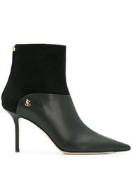Jimmy Choo Beyla 85 Pointed Toe Boots Black