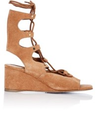 Chloe Women's Foster Gladiator Wedge Sandals Brown Size 6.5