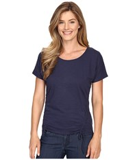 Mountain Khakis Solitude Short Sleeve Shirt Midnight Blue Women's Clothing