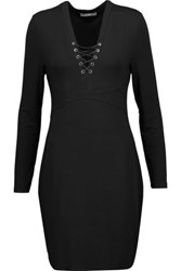 Tart Collections Honora Lace Up Stretch Modal Mini Dress Black
