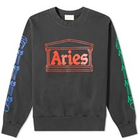 Aries Column Crew Sweat Grey