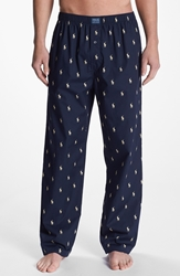 Polo Ralph Lauren Cotton Lounge Pants Navy White