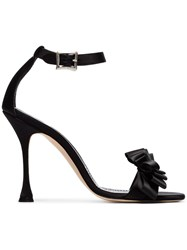 Manolo Blahnik Black Vinkaos 105 Satin Sandals