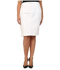 Nydj Plus Size Plus Size Dora Skirt Optic White Women's Skirt