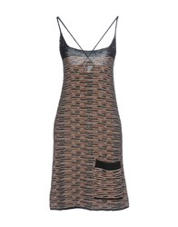 Collection Privee Knee Length Dresses Brown