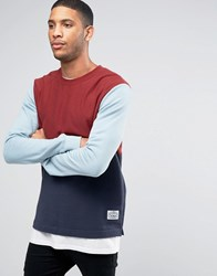 Poler Sweatshirt With Colour Block Red