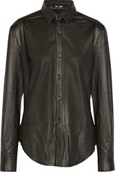 Blk Dnm Leather Shirt