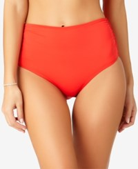 Anne Cole Live In Color High Waist Bikini Bottoms Created For Macy's Women's Swimsuit Lipstick Red