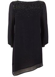 Mint Velvet Navy Sequin Tunic Black