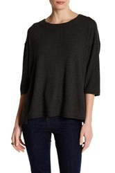 Heather By Bordeaux Hatchi 3 4 Length Sleeve Sweater Gray