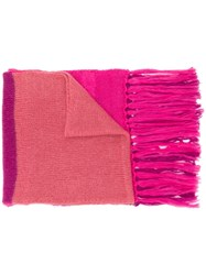 Semicouture Corinna Oversized Scarf Pink